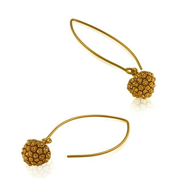 Kousa Dogwood Fruit Earrings - Vermeil