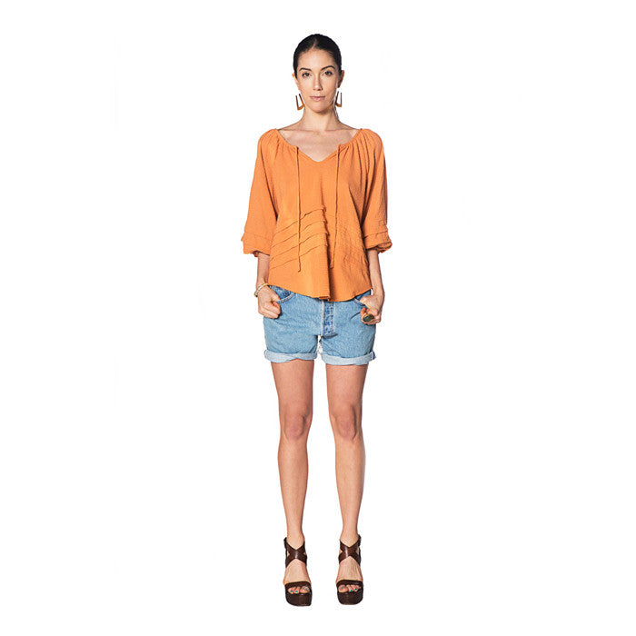 Pumpkin Cotton Azura Top