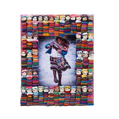 Worry Doll Wood Picture Frame