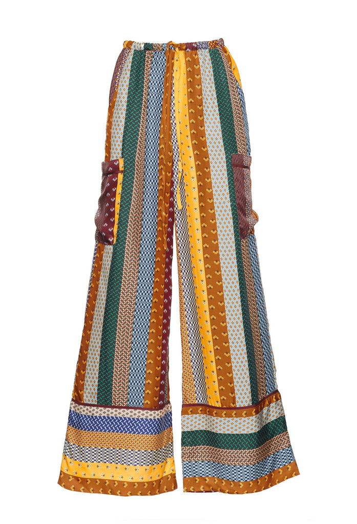Striped Silk Yohai Pant