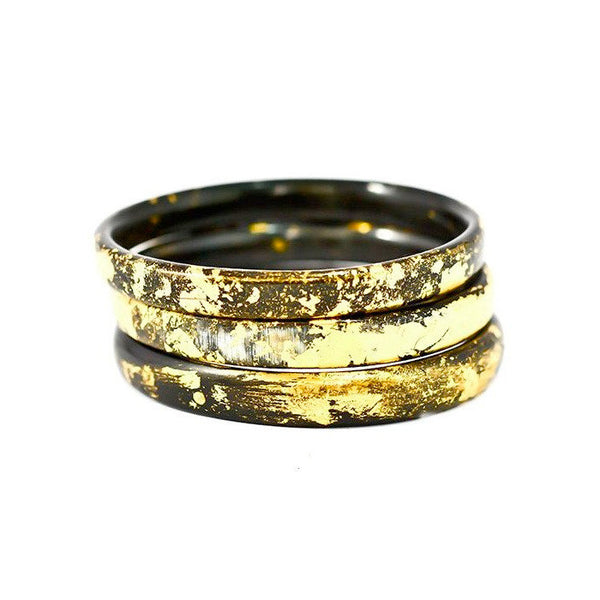 ADELE DEJAK, Dark Horn Zuri Bangle