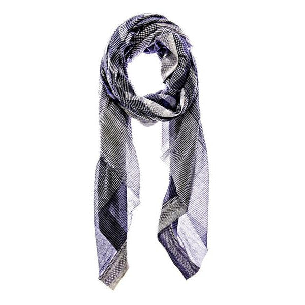 AISH, Blue Cotton Neela Scarf & Pareo