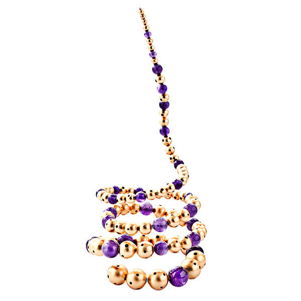 Amethyst 24K Gold-Plated Brass Nerus Mix Bracelet