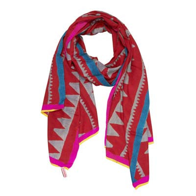 Red Metro Cashmere Scarf