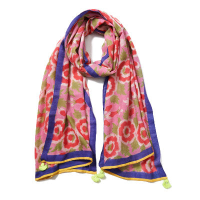 Light Pink Multi Cashmere Pashmina Scarf