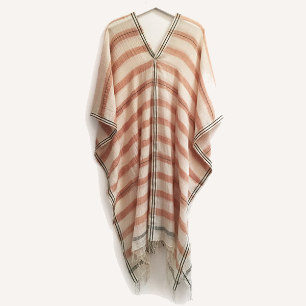 Apricot Handwoven Cotton Caftan