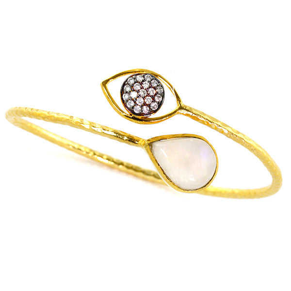 Moonstone 18K Gold Plated Mandy Bracelet