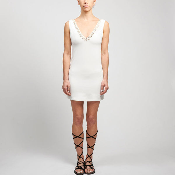 Short Bamboo Backless Dress
