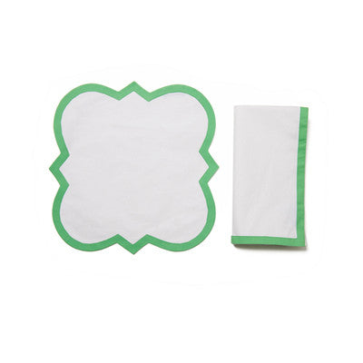 Green Palladio Place Mat and Napkin Set