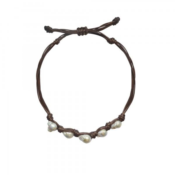 Caracol Jute & Pearl Necklace