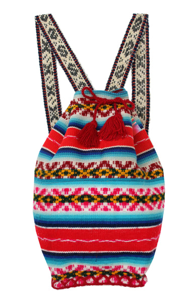 Bright Red Chico Mochila Bag