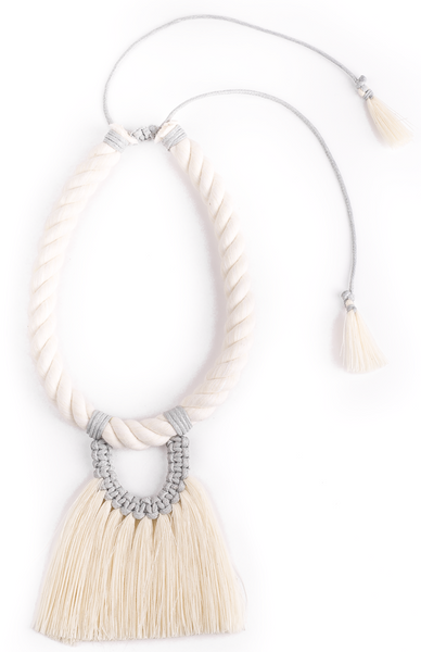 Casada Corta Necklace-Grey
