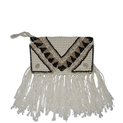 White Lombok Clutch