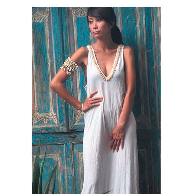 White Bamboo Basic Dress