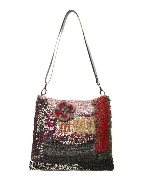 Multi Wool Blend Red Riding Hood Shoulder Bag