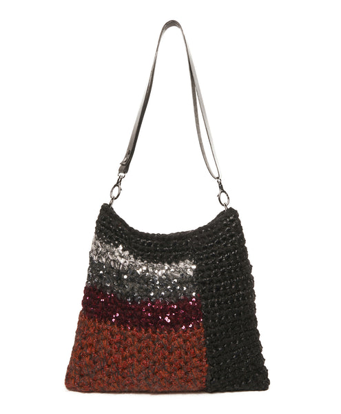Multi Wool Blend Cindy Block Sequin Bag
