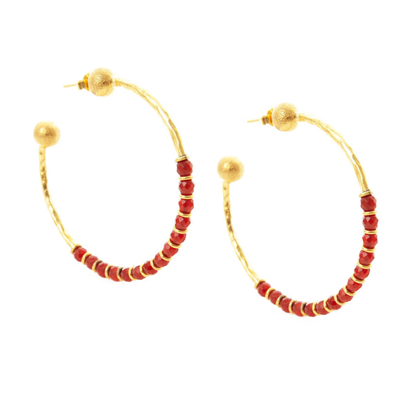SHOP LATITUDE BAZAAR ISTANBUL, Red Firuze Earrings