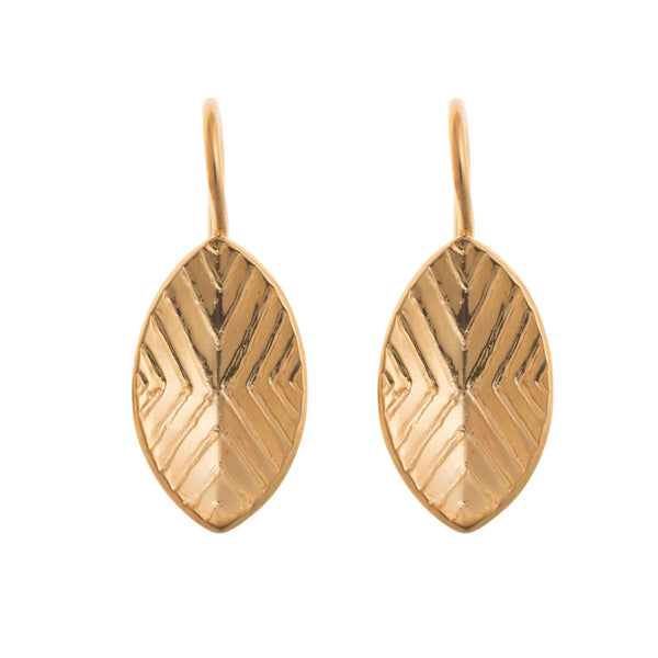 18K Gold Plated brass Arsi Shield Earrings