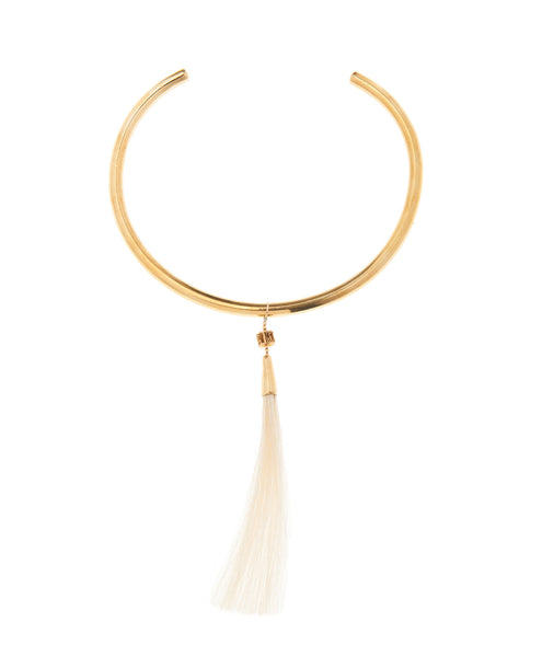 Golden Bali White Pony Choker