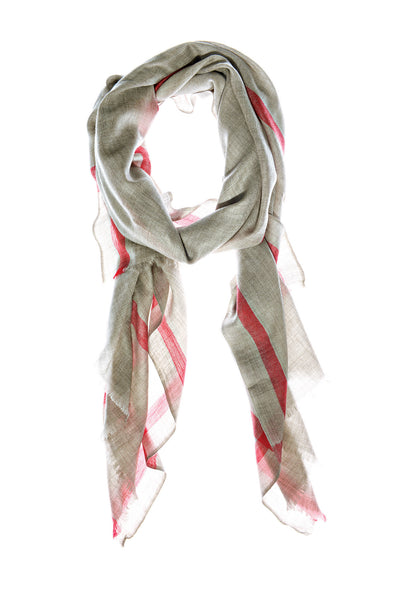 Red Gandhi Wool Scarf