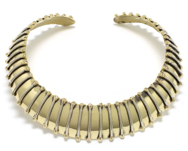 Tiger Stripe Brass Choker