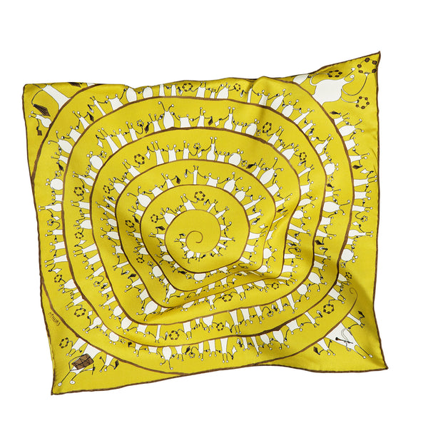 RUMISU, My Extra-Terrestrial Wedding Yellow Silk Pocket Square
