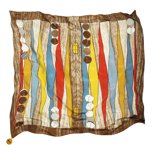 Is It Just Luck Brown Silk Scarf