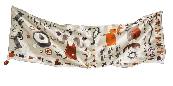 Hold My Hand, And Be My Guide Cream Silk Scarf