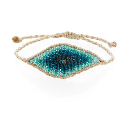 TATIANA CHOREMI, Aqua String See Eye White Diamond Bracelet