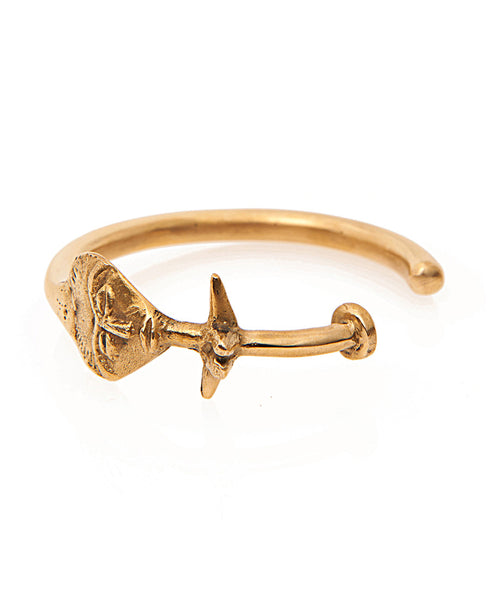 Brass Ashanti Arm Cuff