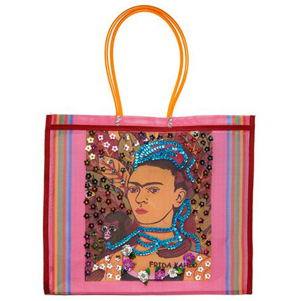 Pink Jeweled Frida Tote
