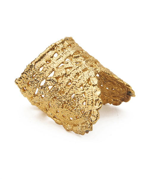 Shiny Bronze Plated Timothea Cuff