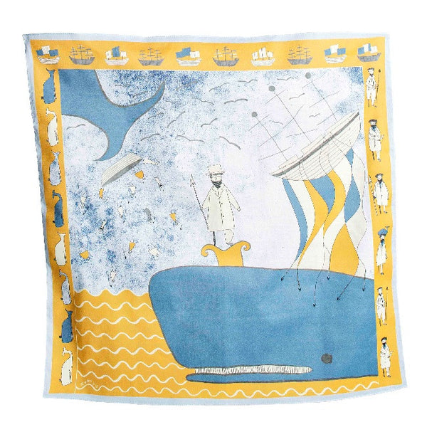 Yellow Moby Dick Cotton Neck Scarf