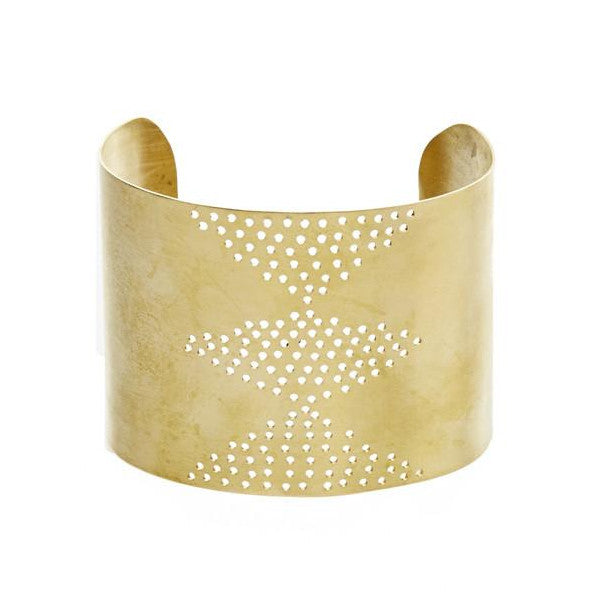 Perforated Brass Cuff