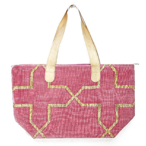 Pink Dhurrie Carry All Tote