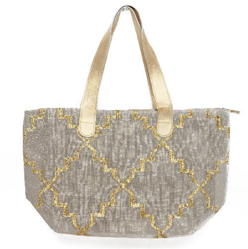 Grey Dhurrie Carry All Tote