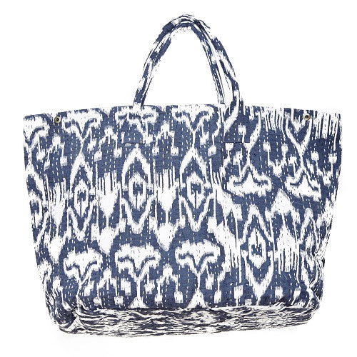 Giant Ikat Cotton Beach Bag