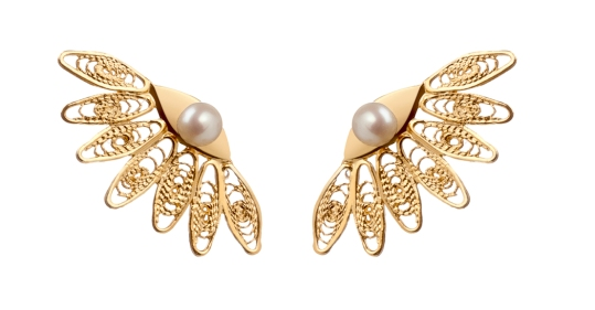 18K Gold Plated Pearl Earrings