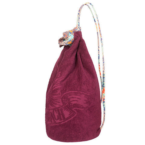 Burgundy Aztec Cotton Backpack