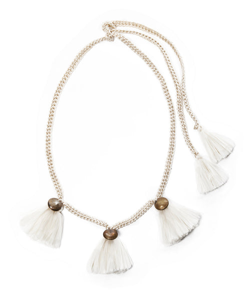 Cream Buleta Trio Necklace