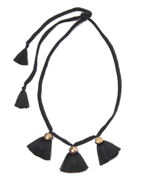 Black Buleta Trio Necklace