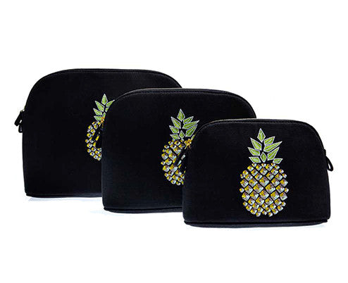 Large Pineapple Cosmetic Pouch