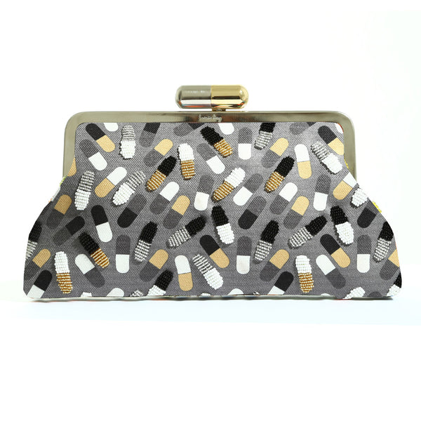 Classic Pop Pill Gold Clutch