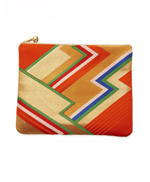 Multi Silk Zig Zag Hanna iPad Clutch