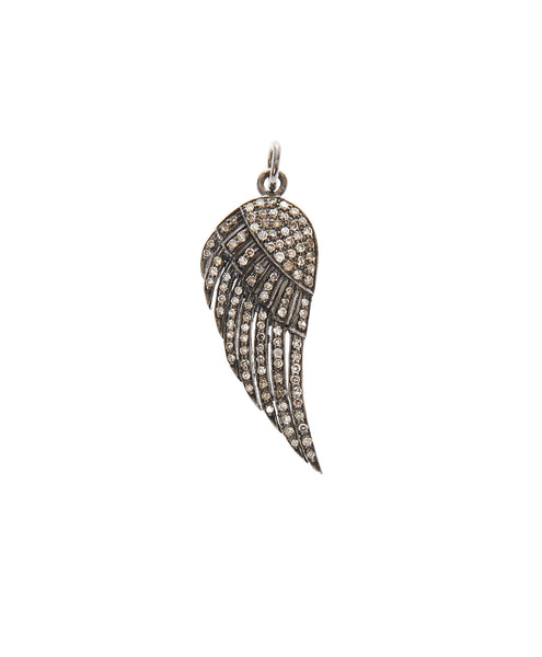 Sterling Silver And Diamond Angel Wing Charm