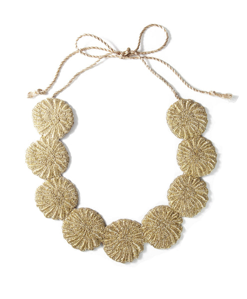 Gold  Metal Shelley Necklace