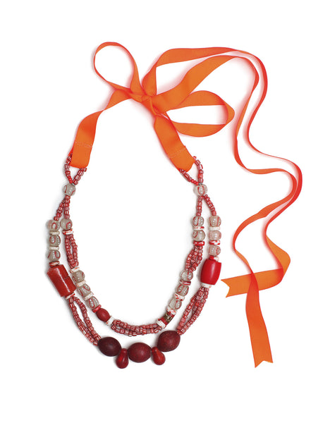 Guidemore Red Beaded Necklace