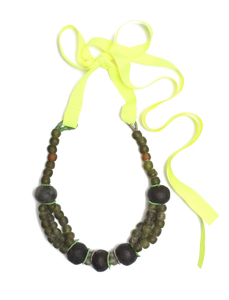 Guidemore Frosted Moss Beaded Necklace