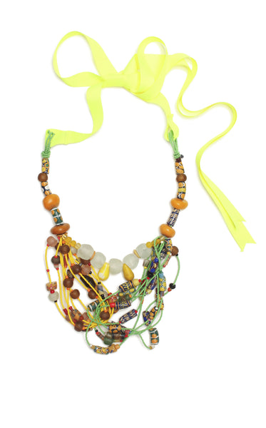 Guidemore Yellow and Green Beaded Necklace