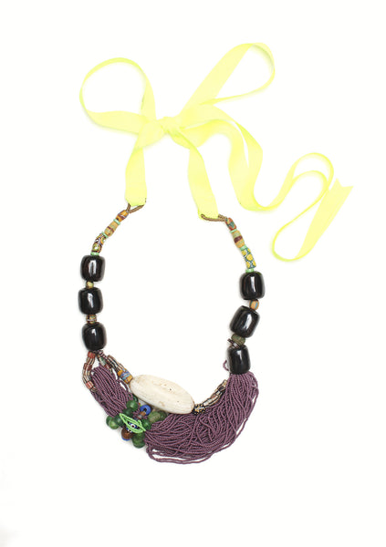 Guidemore Purple Beaded Necklace